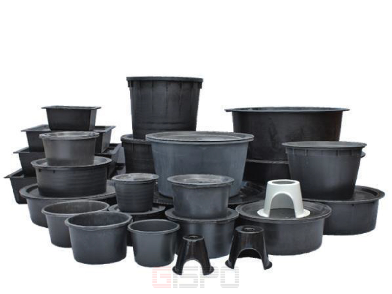 pe becken rund 122 cm h he 82 cm volumen 750 liter f r wasserspiel. Black Bedroom Furniture Sets. Home Design Ideas